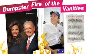 Mr International Tanning Lotion Dumpster Fire Of The Vanities John Menard Steve Hilbert And The