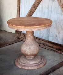 Vintage Wooden Pedestal Side Table Vintage Furniture Pinterest