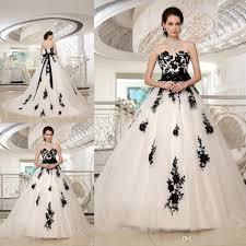 black and white wedding dresses gracefully gowns white and black wedding dress appliqued on