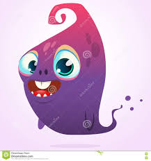 happy ghost clipart happy cartoon pink and blue ghost vector halloween monster