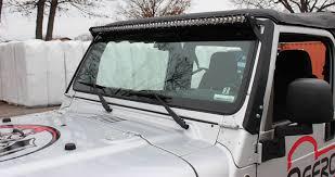 led light bar jeep wrangler wrangler light bar mounts 50 windshield jeep tj lj 97 06