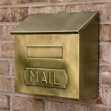 Wall Mount Mailbox With Flag Horizontal