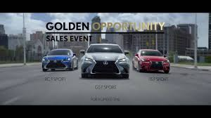 lexus jim falk lexus golden opportunity sales event commercial u201cjust the right