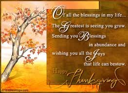 sending you thanksgiving blessings free family ecards greeting