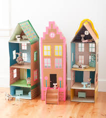 cardboard brownstone dollhouses from playful mer mag comme des