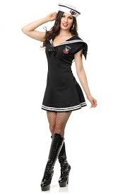 black sailor gal navy uniform womens 1940s halloween