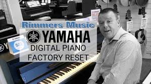 how to yamaha piano factory reset rimmers music youtube