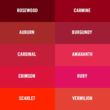burgundy vs garnet color chart red burgundy wine maroon