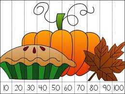 thanksgiving count by 10s number puzzle is great as a math centers
