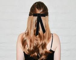 bow hair black velvet bow etsy