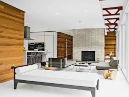 interesting mid century modern brick fireplace mid century modern