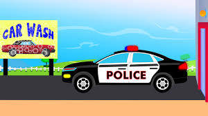 police car police car wash videos for children videos for kids youtube