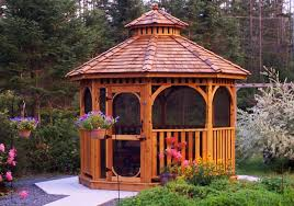 backyard gazebo screen kit for 10 u0027 octagon gazebo outdoor living
