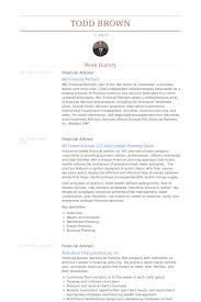 financial advisor resume samples visualcv resume samples database