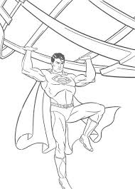fighting superman coloring pages kids printable super heroes