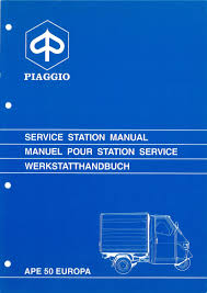 workshop manual piaggio ape 50 europa mod tl5t apedoc