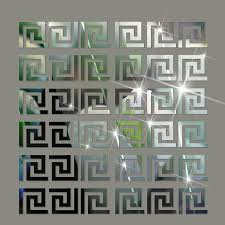 mirror decals home decor mirror wall sticker home decor puzzle labyrinth acrylic mirrored