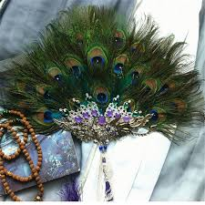 peacock feather fan original ancient costume props costume drama classic luxury