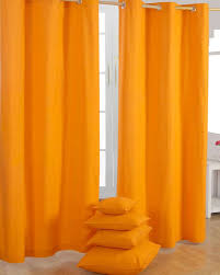 Orange Curtains For Living Room Innovative Orange Blackout Curtains And Orange Grommet Curtains