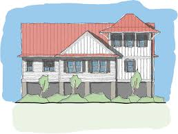 elevated home plans pawleys perch u2014 flatfish island designs u2014 coastal home plans