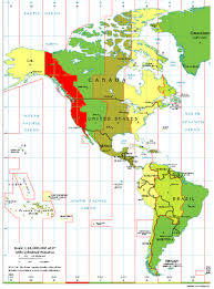 us map divided by time zones pacific time zone