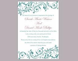 Diy Wedding Invitation Template Diy Wedding Invitation Template Editable Word File Instant
