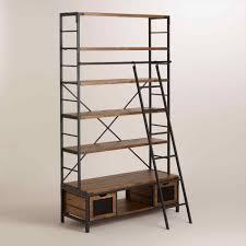Industrial Metal Bookshelf Library Ladders Uk Amiphi Info