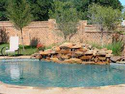 pool with fire pit natural swimming pool fire pit waterfall