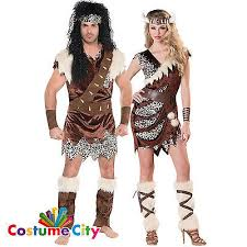 Cave Woman Halloween Costumes Adults Couples Caveman Barbarian Cavewoman Fancy Dress