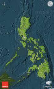Philippine Map Satellite Map Of Philippines Darken