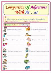 english teaching worksheets as as comparison