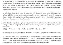 power factor for lighting load solved 1 a why power factor improvement is necessary a