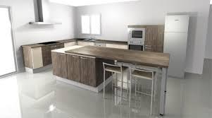 table cuisine moderne design ilot cuisine table avec cuisine moderne idees nz idees et cuisine