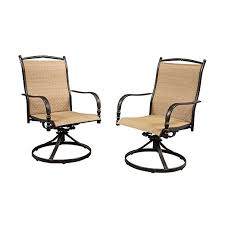 Patio Swivel Chair Amazon Com Altamira Diamond Motion Patio Dining Chairs Set Of 2