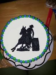 barrel racing silhouette cake flourtown sweets cakes pinterest