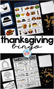 thanksgiving bingo a dab of glue will do