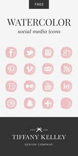 facebook icon rose gold social media icons by lianaterrydesigns on etsy