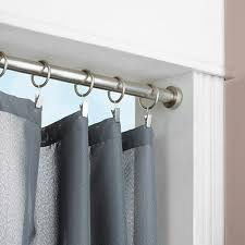 Loaded Shower Curtain Rod Furniture Tension Curtain Rods Home Depot Furniture