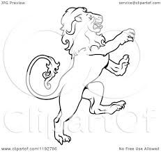 clipart of a black and white leo lion zodiac astrology sign