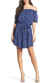 striped navy white dress nordstrom