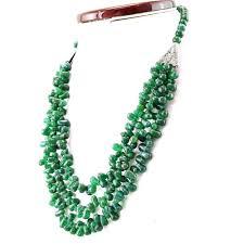 drop beads necklace images Natural green jade tear drop beads necklace 3 strand gemsmore jpg
