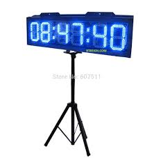 bright 10 blue led marathon sport timer running race clock