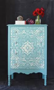 Painting Old Furniture by 25 Best Stencil Dresser Ideas On Pinterest Tribal Decor Tribal