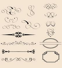 vintage border decorations free vector 123freevectors