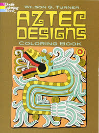 aztec designs coloring book dover design coloring books wilson