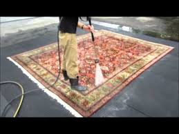 How To Clean Wool Area Rugs by How To Clean An Oriental Carpet Part 9 The Pressure Wash Youtube