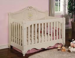 light beige finish modern baby crib