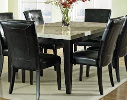 black dining room sets leather chairs for sale table set and f