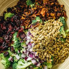 bacon sunflower seeds best cold broccoli salad with bacon and cranberries savory tooth