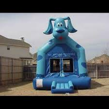 black friday bounce house great for a boy or party the blue dog bounce house rental is